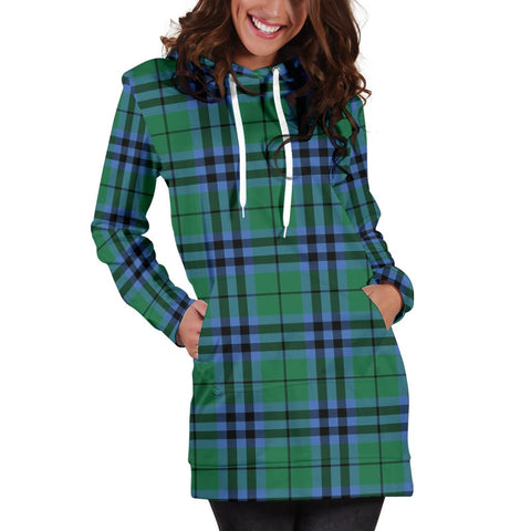Hoodie Dress - Keith Ancient  Tartan Hooded Dress