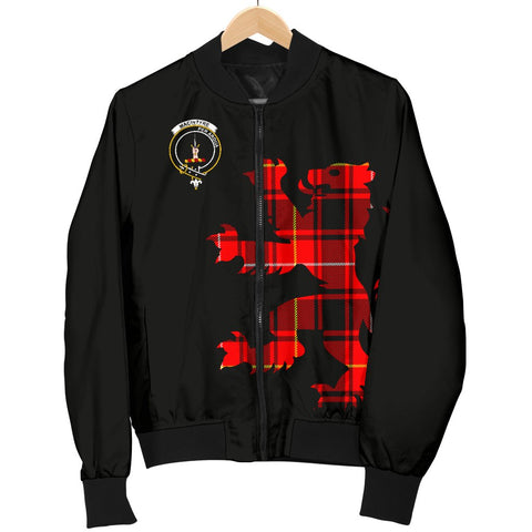 ScottishShop Tartan Bomber Jacket - MacIntyre Tartan Lion & Thistle Men Jacket