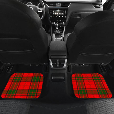Car Floor Mats - Clan Maxtone Crest And Plaid Tartan Car Mats - 4 Pieces