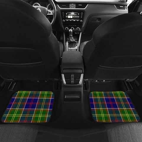 Image of Car Floor Mats - Clan Whitefoord Modern Crest And Plaid Tartan Car Mats - 4 Pieces