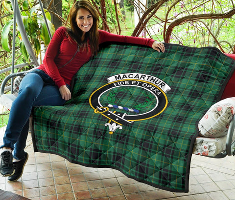 Image of Premium Quilt - MacArthur Ancient Tartan Quilt - Clan Crest TH8