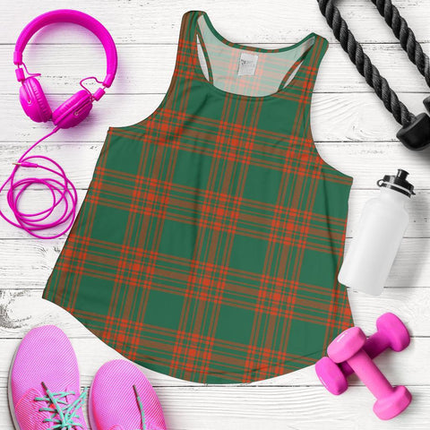 Menzies Green Ancient Tartan Women Racerback Tank