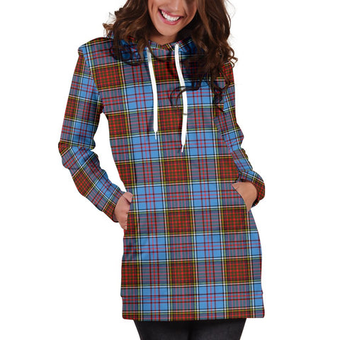 Hoodie Dress - Anderson Modern Tartan Hooded Dress