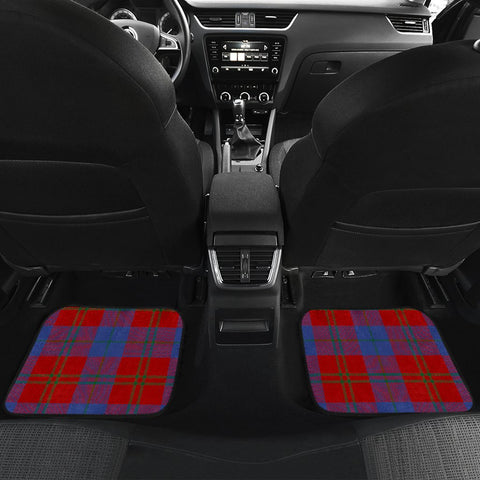 Image of Car Floor Mats - Clan Witherspoon Crest And Plaid Tartan Car Mats - 4 Pieces