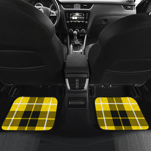 Car Floor Mats - Clan Barclay Dress Modern Crest And Plaid Tartan Car Mats - 4 Pieces