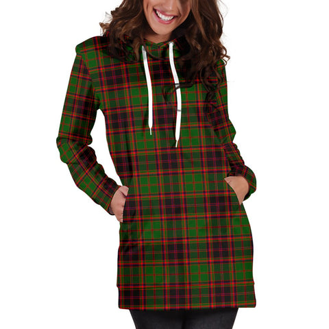 ScottishShop Hoodie Dress - Buchan Modern Tartan Hooded Dress