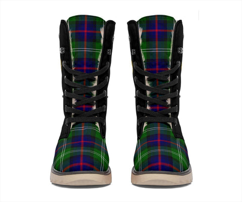 Image of Tartan Women's Snow Boots - Clan Sutherland II Boots Side Crest - BN