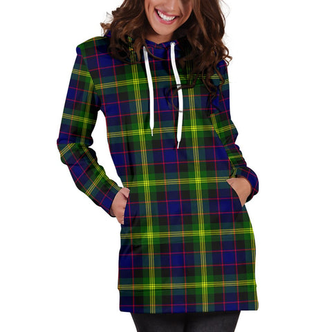 ScottishShop Hoodie Dress - Watson Modern Tartan Hooded Dress