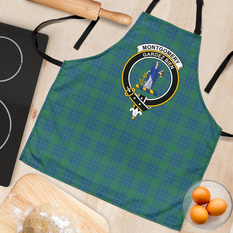 Tartan Apron - Montgomery Ancient Apron With Clan Crest HJ4