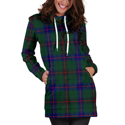 Image of ScottishShop Hoodie Dress - Davidson Modern Tartan Hooded Dress