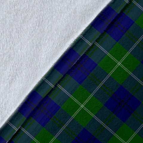 Image of Oliphant Crest Tartan Blanket | Tartan Home Decor | ScottishShop