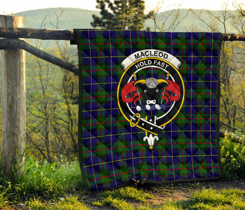 Premium Quilt - MacLeod of Harris Modern Tartan Quilt - Clan Crest TH8
