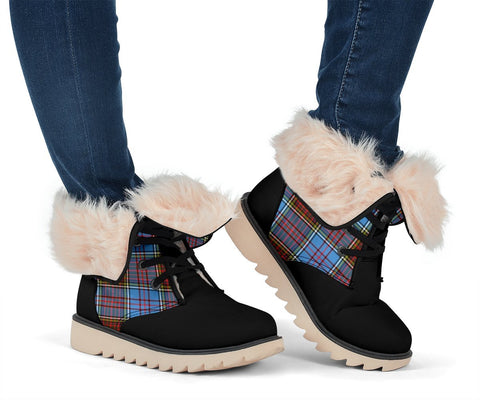 Image of Snow Boots - Clan Tartan Anderson Plaid Boots - Crest On Tongue Style