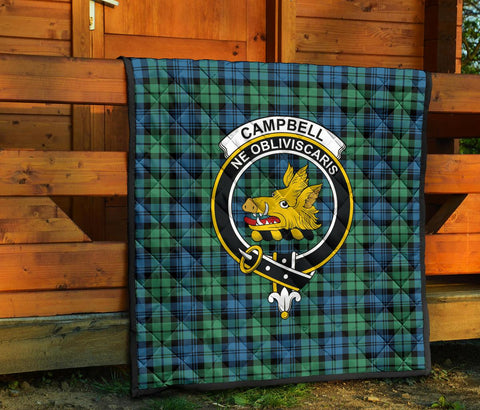 Image of Premium Quilt - Campbell Ancient 01 Tartan Quilt - Clan Crest TH8