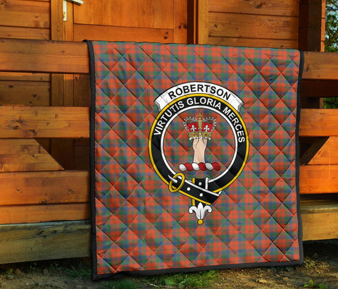 Image of Premium Quilt - Robertson Ancient Tartan Quilt - Clan Crest TH8