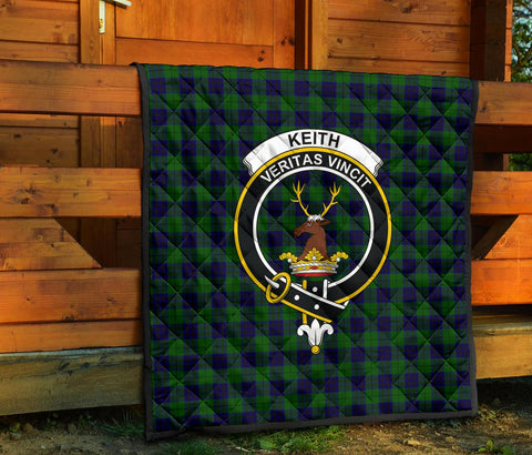 Image of Premium Quilt - Keith Modern Tartan Quilt - Clan Crest TH8