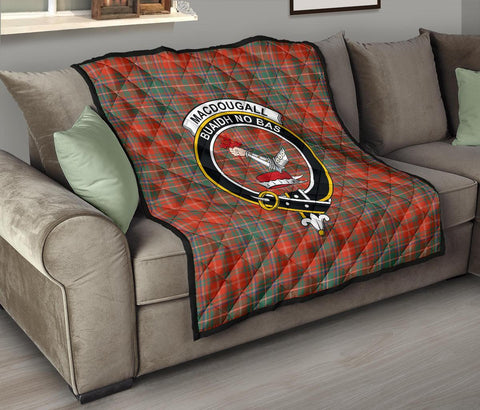 Image of Premium Quilt - MacDougall Ancient Tartan Quilt - Clan Crest TH8