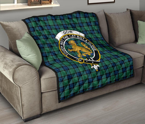 Image of Premium Quilt - Graham of Menteith Ancient Tartan Quilt - Clan Crest TH8