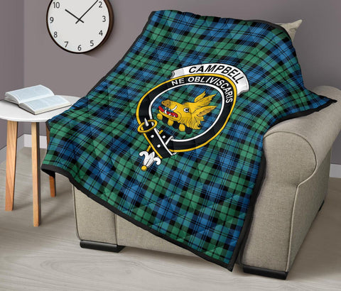 Premium Quilt - Campbell Ancient 01 Tartan Quilt - Clan Crest TH8