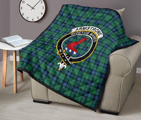 Image of Premium Quilt - Armstrong Ancient Tartan Quilt - Clan Crest TH8