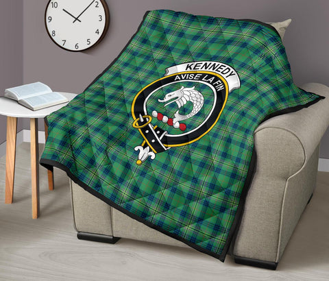 Image of Premium Quilt - Kennedy Ancient Tartan Quilt - Clan Crest TH8