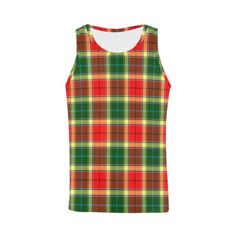 Gibbs Tartan All Over Print Tank Top Nl25 Xs / Men Tops