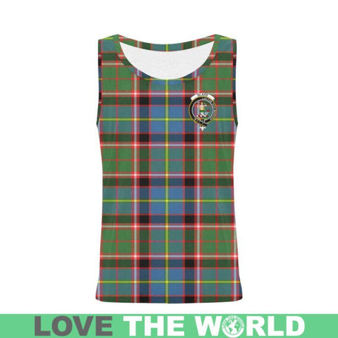 Glass Tartan Clan Badge All Over Print Tank Top Nl25 Xs / Men Tops