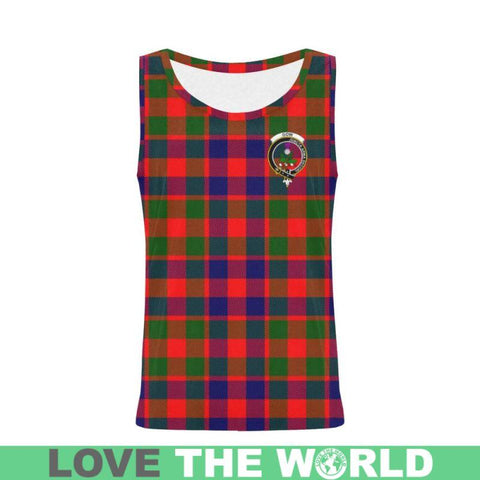Gow Of Skeoch Tartan Clan Badge All Over Print Tank Top Nl25 Xs / Men Tops