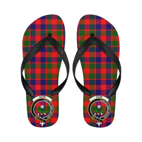 Gow Of Skeoch Tartan Clan Badge Flip Flops For Men/women C26 Unisex