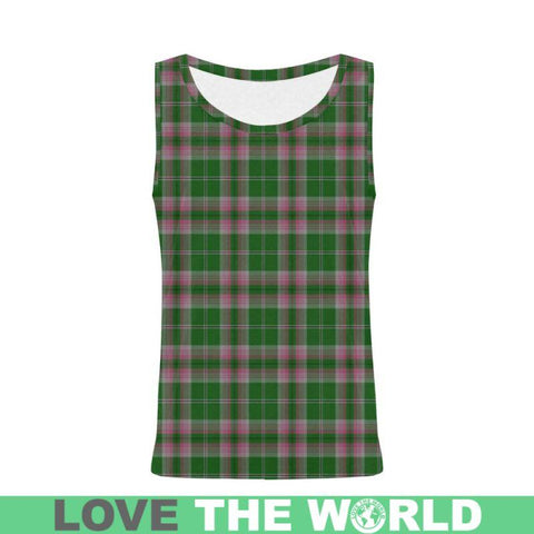 Gray Hunting Tartan All Over Print Tank Top Nl25 Xs / Men Tops