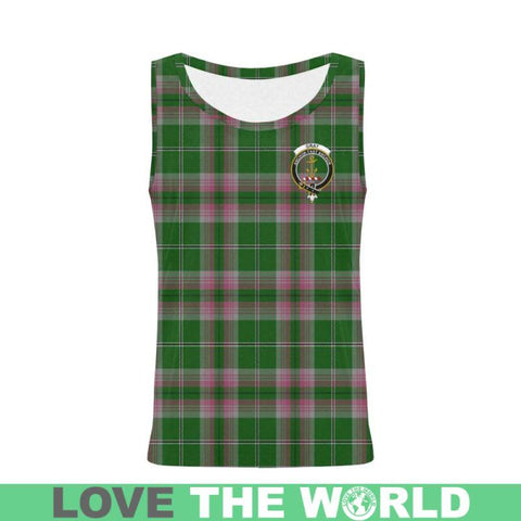 Gray Hunting Tartan Clan Badge All Over Print Tank Top Nl25 Xs / Men Tops