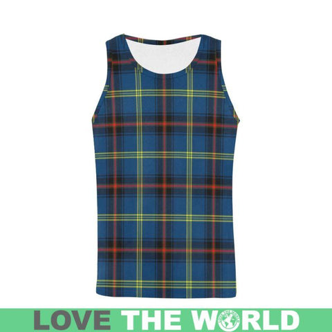 Grewar Tartan All Over Print Tank Top Nl25 S / Women Tops