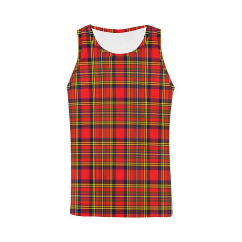 Hepburn Tartan All Over Print Tank Top Nl25 Xs / Men Tops