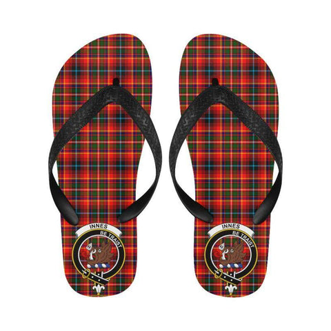 Innes Modern Tartan Clan Badge Flip Flops For Men/women C26 Unisex