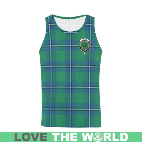 Image of Irvine Ancient Tartan Clan Badge All Over Print Tank Top Nl25 S / Women Tops