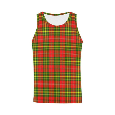 Image of Leask Tartan All Over Print Tank Top Nl25 Xs / Men Tops