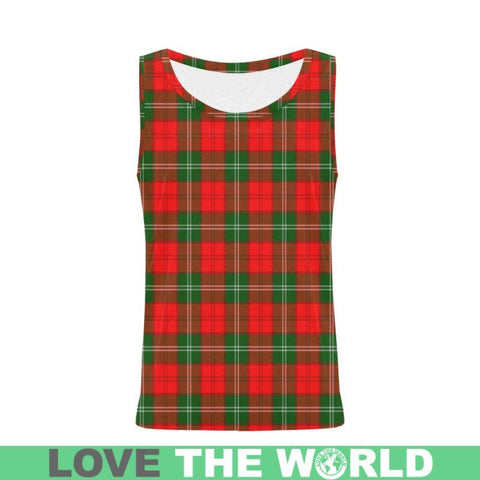 Lennox Modern Tartan All Over Print Tank Top Nl25 Xs / Men Tops