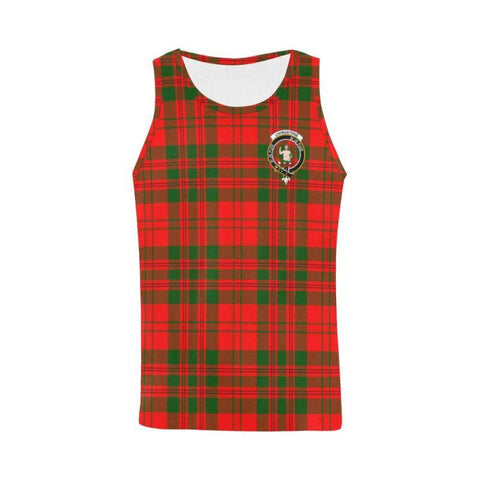 Livingstone Tartan Clan Badge All Over Print Tank Top Nl25 Xs / Men Tops