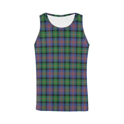 Image of Logan Ancient Tartan All Over Print Tank Top Nl25 Xs / Men Tops