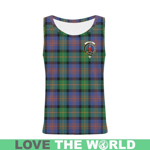 Image of Logan Ancient Tartan Clan Badge All Over Print Tank Top Nl25 Xs / Men Tops