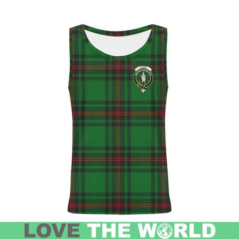 Logie Tartan Clan Badge All Over Print Tank Top Nl25 Xs / Men Tops
