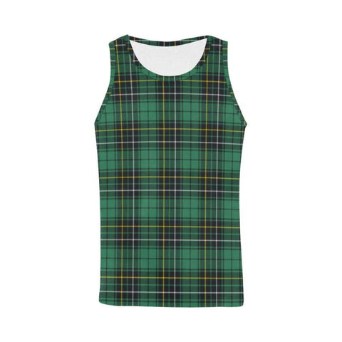Macalpine Ancient Tartan All Over Print Tank Top Nl25 Xs / Men Tops