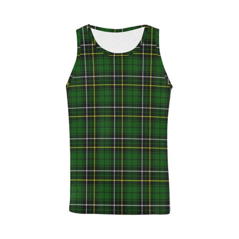 Macalpine Modern Tartan All Over Print Tank Top Nl25 Xs / Men Tops