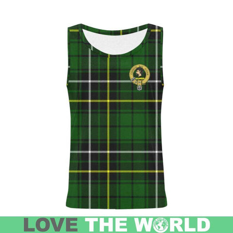 Macalpine Modern Tartan Clan Badge All Over Print Tank Top Nl25 Xs / Men Tops