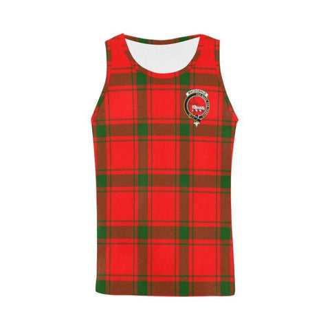 Macdonald Of Sleat Tartan Clan Badge All Over Print Tank Top Nl25 Xs / Men Tops