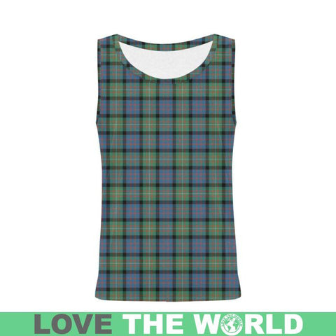 Macdonnell Of Glengarry Ancient Tartan All Over Print Tank Top Nl25 Xs / Men Tops