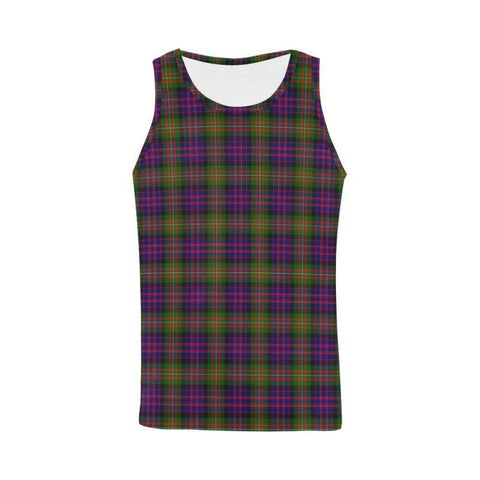 Image of Macdonnell Of Glengarry Modern Tartan All Over Print Tank Top Nl25 Xs / Men Tops
