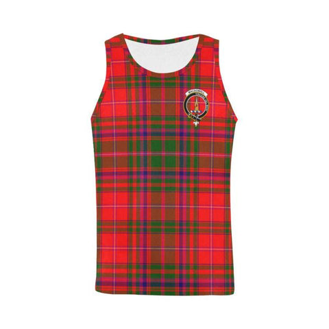 Macdowall Tartan Clan Badge All Over Print Tank Top Nl25 Xs / Men Tops