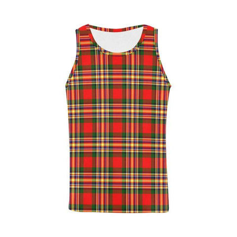 Macgill Modern Tartan All Over Print Tank Top Nl25 Xs / Men Tops