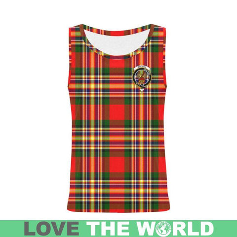 Macgill Modern Tartan Clan Badge All Over Print Tank Top Nl25 Xs / Men Tops